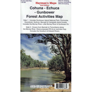 Cohuna Echuca Gunbower Forest Activities Haymans Map
