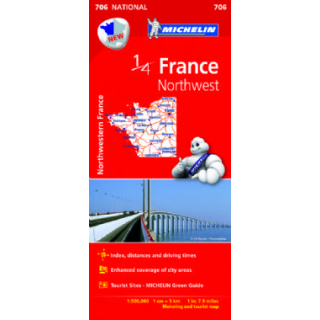 Map Of Northwest France.France Northwest Michelin Map 706 9782067200630