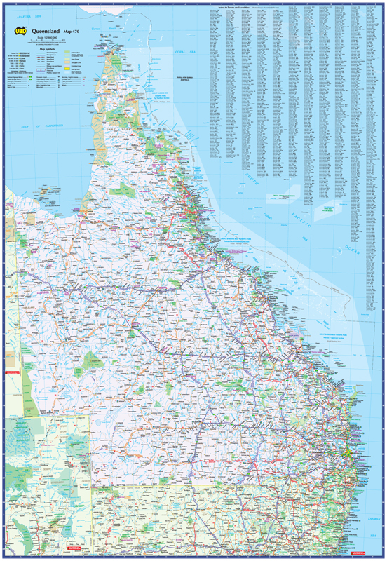 Queensland Laminated Map By Ubd 9780731931347
