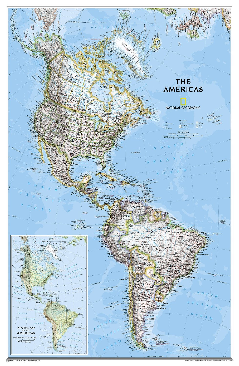 Map Of The Americas For The Wall