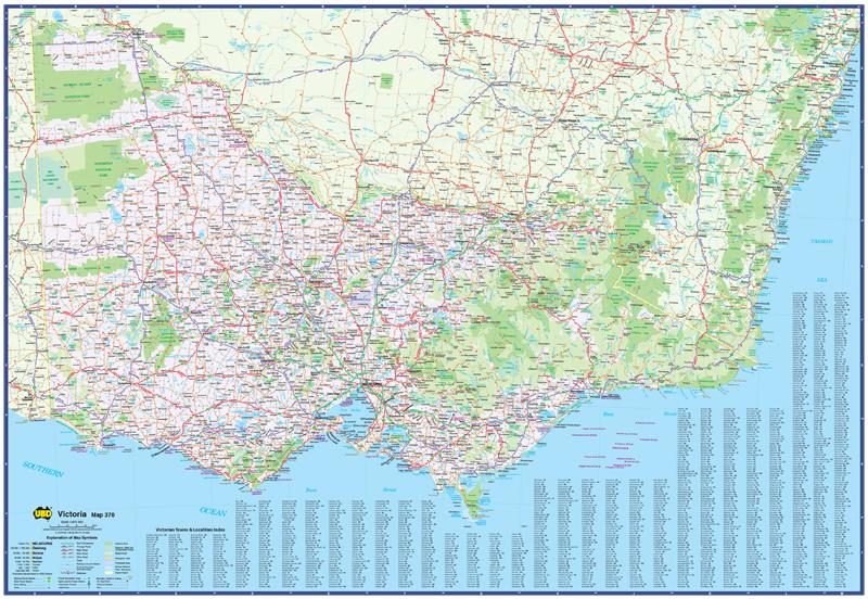 Map Centre Parramatta Victoria State Suburban UBD - Map of victoria australia with towns