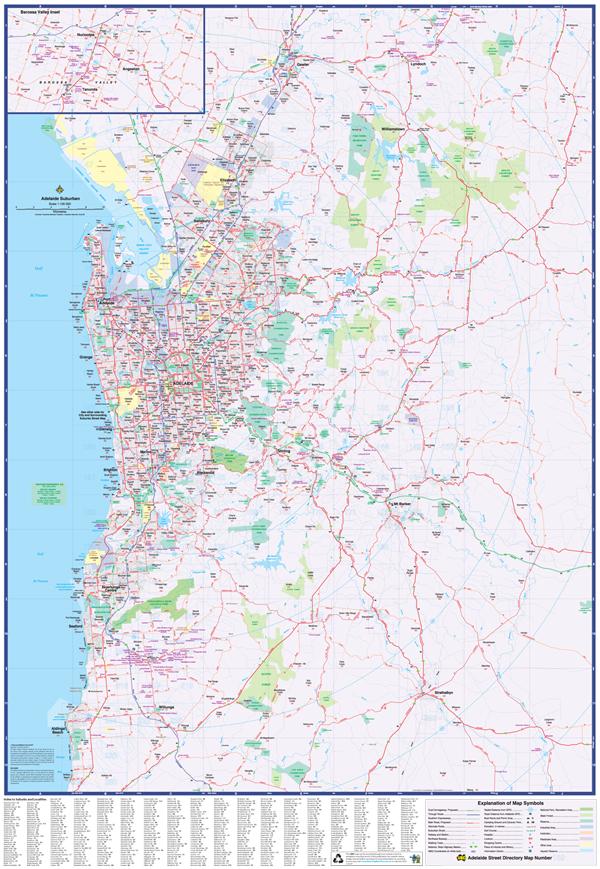Map Centre Parramatta Adelaide Suburbs Ubd 562 Super