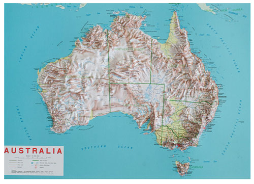 Relief map Australia | 3d maps