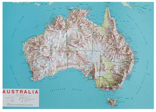 Australia 250k Map.Relief Map Australia 3d Maps