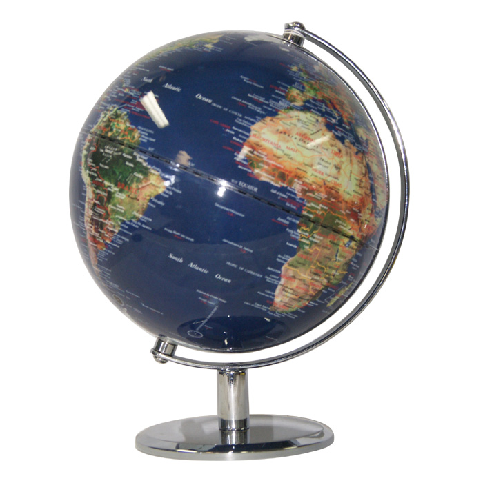 Dark Blue Ocean World Globe 25cm Heritage