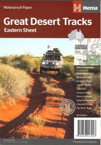 Hema Map Great Desert Tracks Eastern Sheet 9781876413927