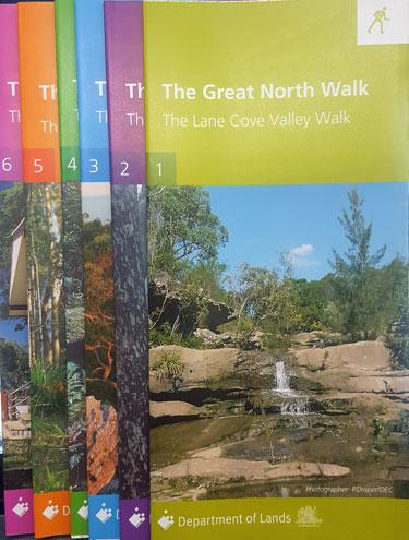 Map Centre Parramatta The Great North Walk Map Kit O Print