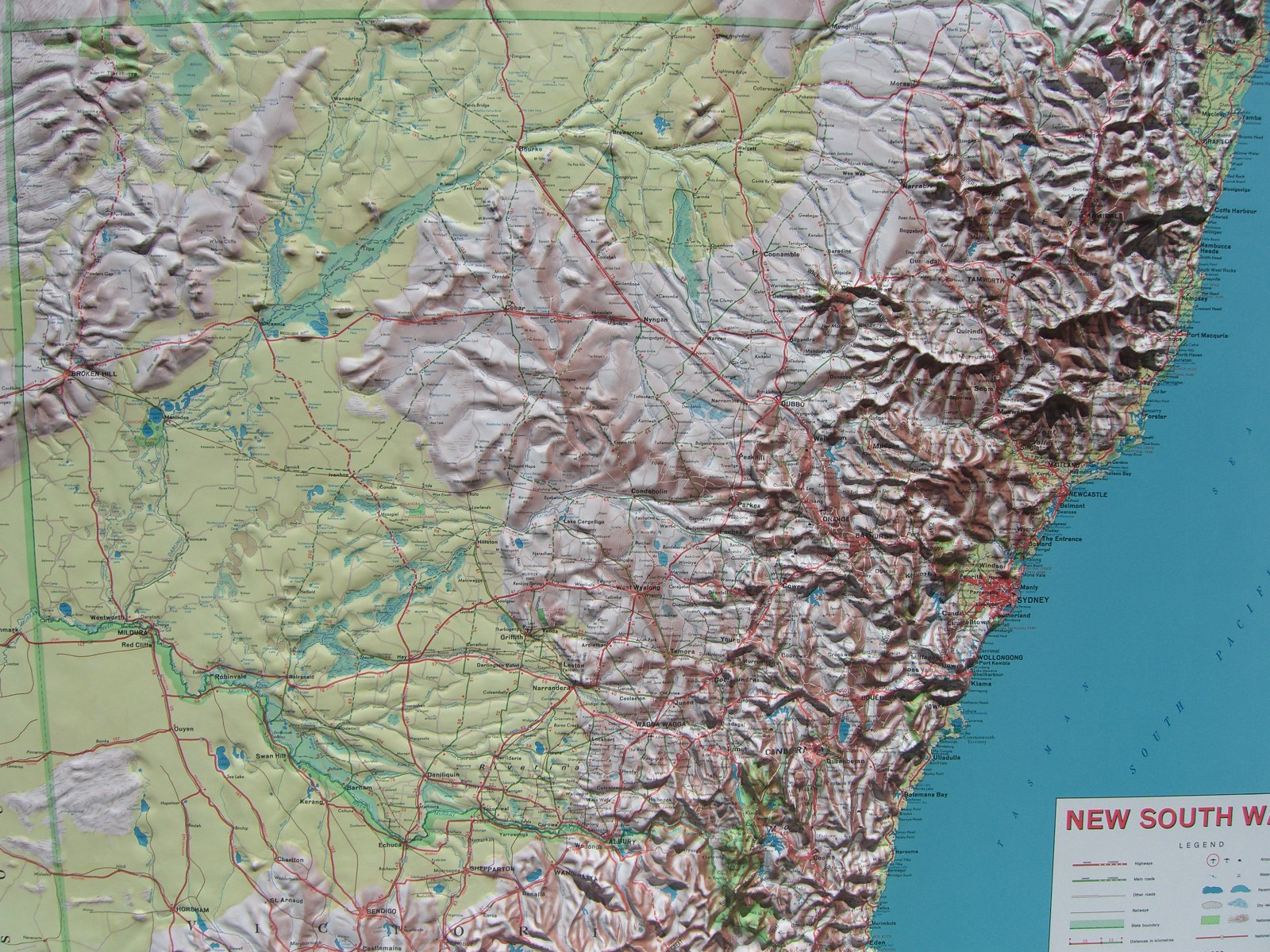 Relief Map Of New South Wales Nsw 3d Maps