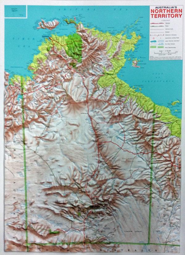 3d Map Of South Australia.3d Relief Map Of Australia