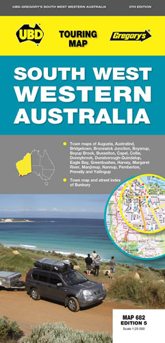 South West Western Australia Ubd 682 Map 9780731927418