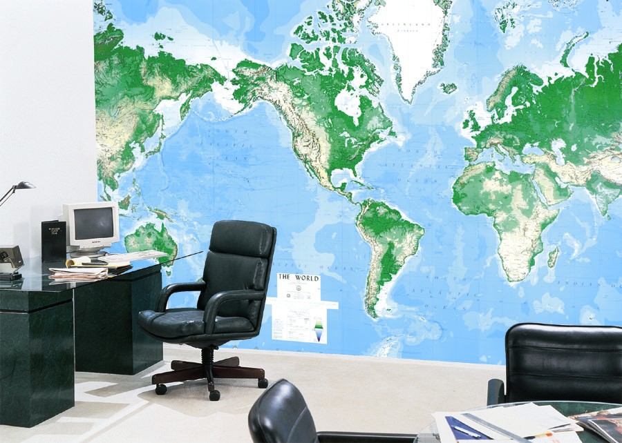 World Map Wallpaper Adelaide.  Map Centre Parramatta World DMA Mural Flat 8 Sheet 3960 x 2640